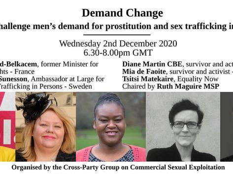 Demand Change: online event on challenging men's demand for prostitution