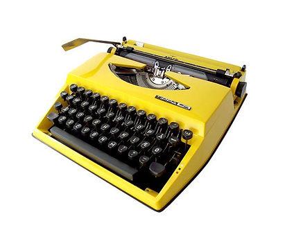 Adler Tippa Yellow typewriter