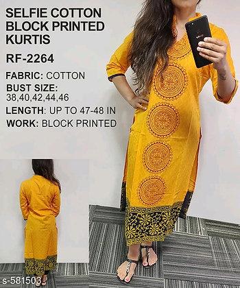 Motif Printed Kurti (s-581503)