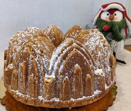 Raspberry White Chocolate Pound Cake