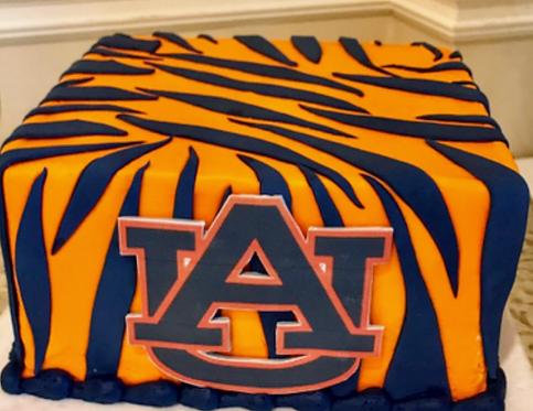 Tiger Stripes Cake (Auburn)