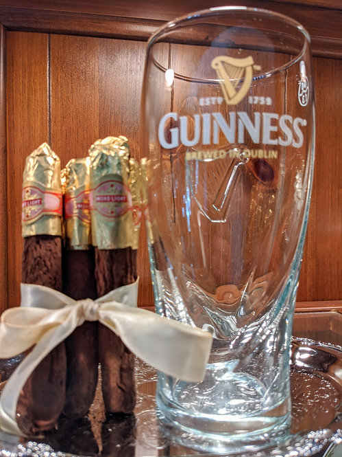 Chocolate Cigar & Beer Glass Gift Set (Choose from 3 Options)