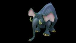 Elephant wireframe