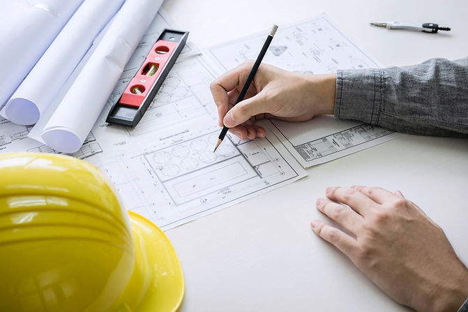 Construction engineer drawing