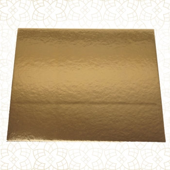 Tortys - Tortenplatte Gold - Eckig Dünn