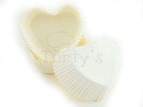 Muffin/Cupcake Förmchen Herz Weiss 36 Stück
