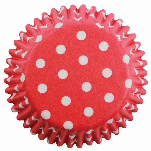 Muffin/Cupcake Förmchen PME Gepunktet Rot 60 Stück