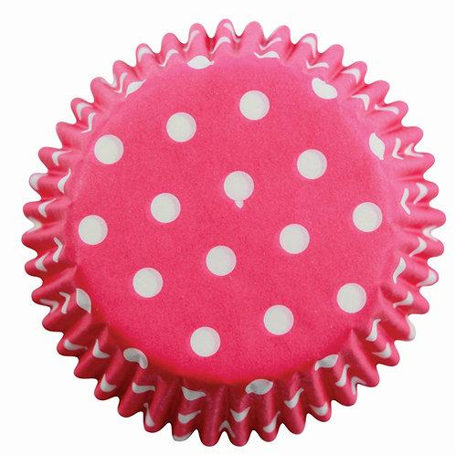 Muffin/Cupcake Förmchen PME Gepunktet Pink 60 Stück