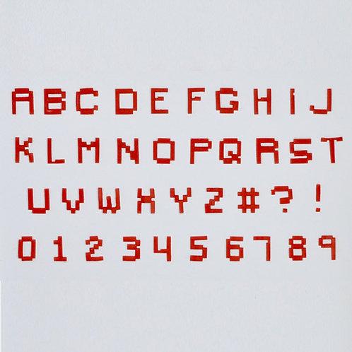 FMM Buchstaben Ausstecher Pixel Set