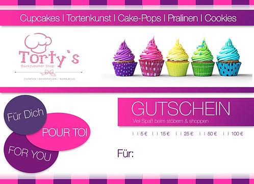 Torty`s - Gutschein - Wert 100 €