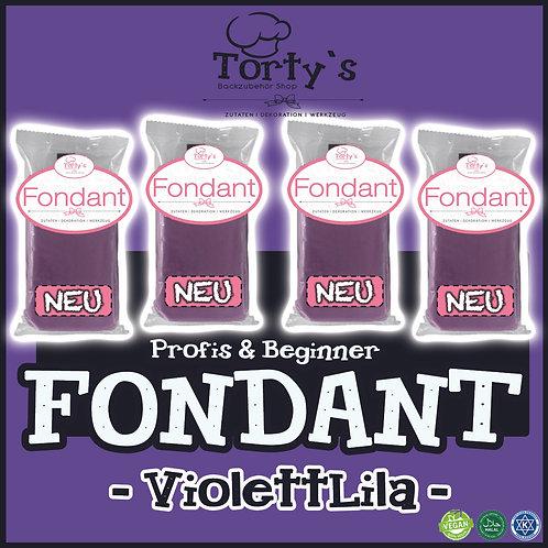 Torty`s Fondant - 1kg - Lila Violett (4x250g)