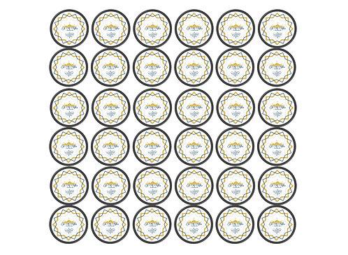 Essbare Buttons - Eid Stern - 48 Stück für Kekse und Cupcakes