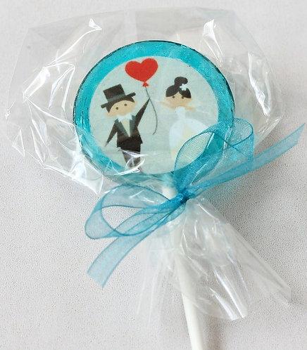 Lolly - Hochzeit - Paar mit Herz