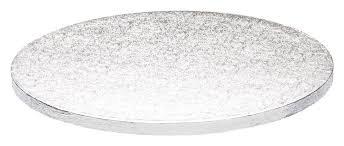 Cake Drum - Tortenunterlage rund - Silber - 30cm