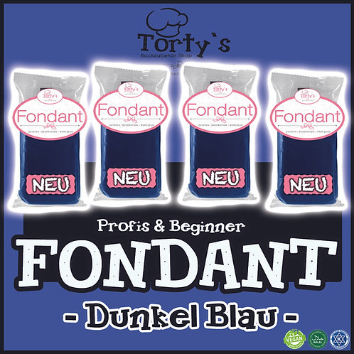 Torty`s Fondant - 1kg - Dunkel Blau