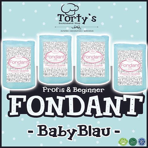Torty`s Fondant - 1kg - Baby Blau