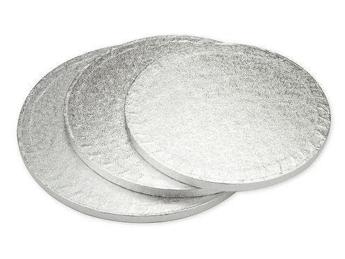 Tortys - Tortenplatte Silber - Rund Dick