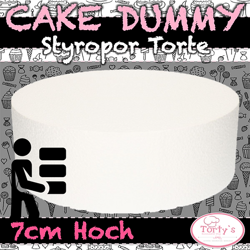 Torten Dummy - Styropor 7cm Hoch - 15cm Durchmesser