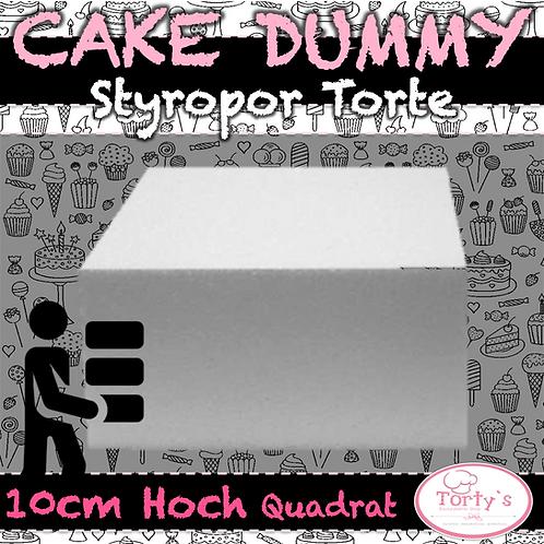 Torten Dummy - Styropor 10cm Hoch - Quadrat 20cm Durchmesser