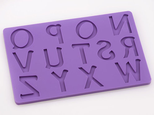 Silikonform - Buchstaben Gross - N-Z