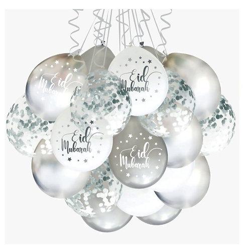 Eid Bayram - Ballons - Silber  10Stk.