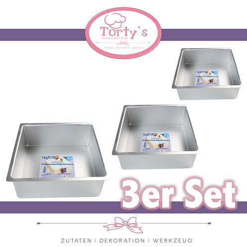 PME - Backform - Extra Tief - Quadrat 3er Set