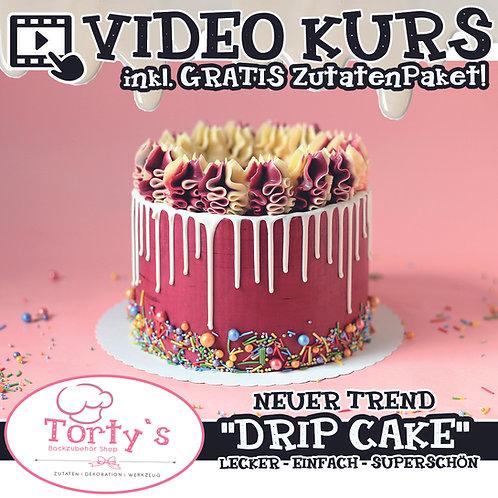 VIDEO - Drip Torten KURS - Farben nach Wahl  inkl. GRATIS Zutatenpaket