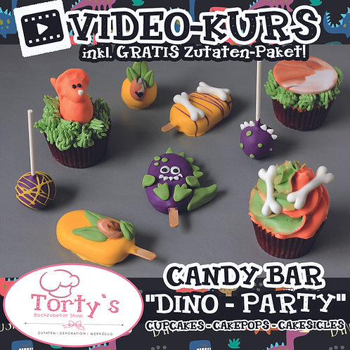 Tortys CandyBar-Box mit GRATIS Video - All Inclusive - Dino Party
