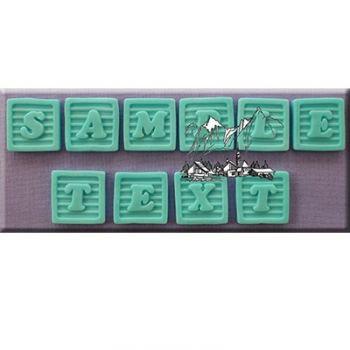 Silikonform - Moulds - Baby Block Font
