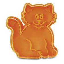Städter Stempelausstecher Katze ca. 6,5cm Orange