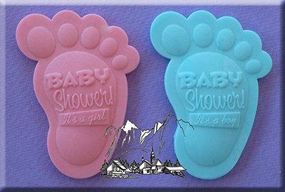 Silikonform - Moulds - Baby feet shower