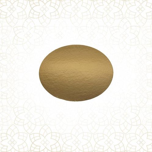 50% Rabatt: Tortys - Tortenplatte Gold - Rund Dünn 22cm