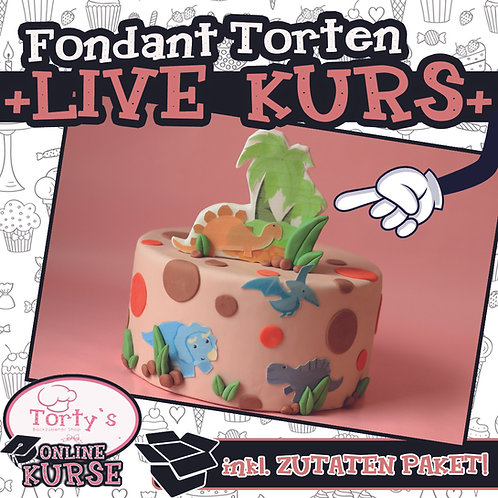 Torty`s - ONLINE LIVE - Fondant-Torten Kurs - 21.03.21 Dino