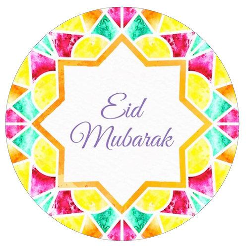 Essbares Bild - Eid Bunt - Rund 20cm