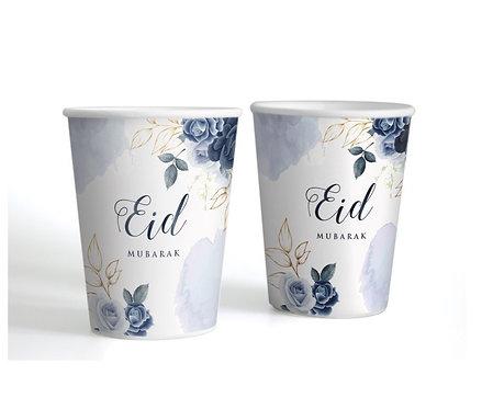 Eid Bayram - 6 Becher - Blau