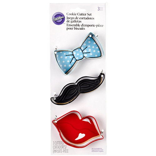 Wilton Ausstecher Set Bart & Lips