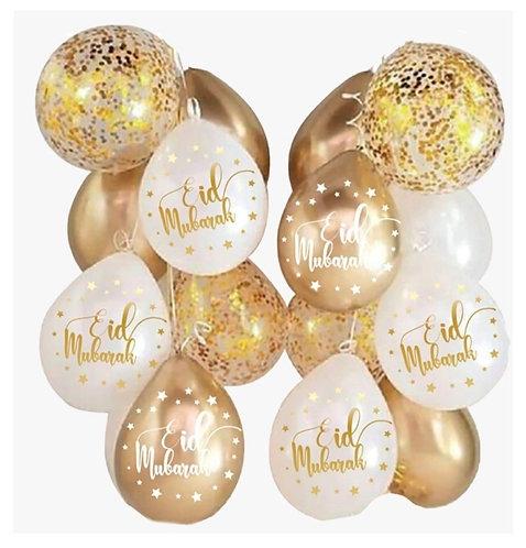 Eid Bayram - Ballons - Gold 10Stk.