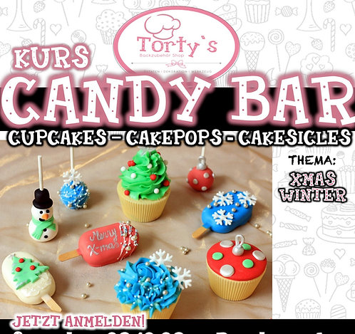 Torty`s - Candy Bar Kurs - Thema: Winter - 19.12.21
