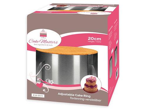 Tortenring - 20cm Extra Hoch! - verstellbar