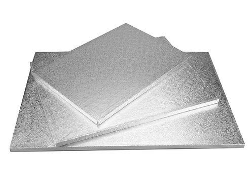 Tortys - Tortenplatte Silber - Eckig Dick