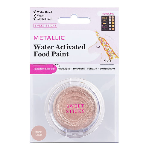 Essbare Farbe - Metallic - Rose Gold