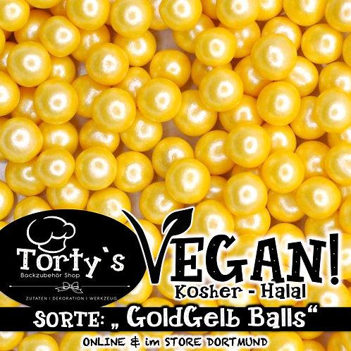 Tortys - Vegane Streusel - GoldGelb Balls - 100g