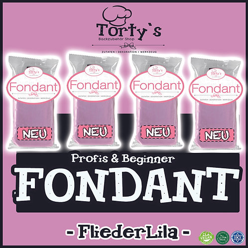 Tortys Fondant - 1kg - Flieder Lila (4x250g)