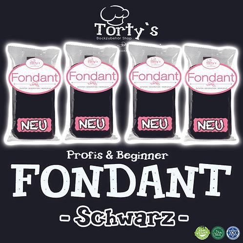 Torty`s Fondant - 1kg - Schwarz