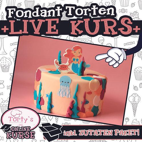 Torty`s - ONLINE LIVE - Fondant-Torten Kurs - 28.02.21 Meerjungfrau