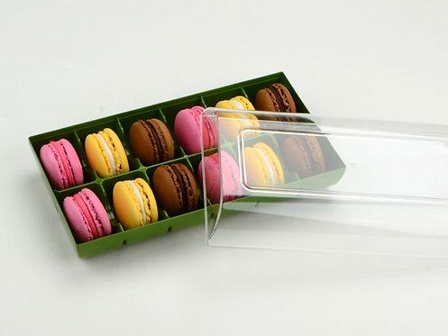 Macarons -Box - Olivgrün