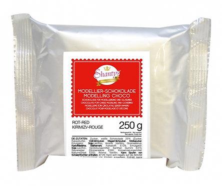 Modellier Schokolade - 250g - Rot