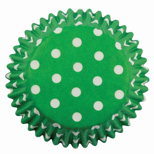 Muffin/Cupcake Förmchen PME Gepunktet Grün 60 Stück