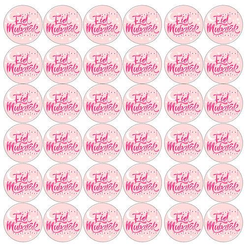 Essbare Buttons - Eid Rosa - 24 Stück für Kekse und Cupcakes
