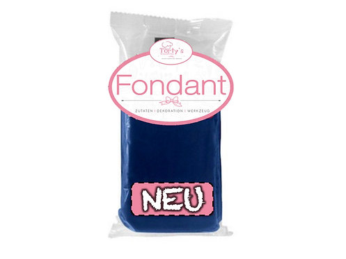 Torty`s Fondant - 1kg - Dunkel Blau (4x250g)